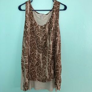 Animal print sleeveless top